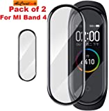 ALI CREATION Full Coverage Anti Bubble Front Screen Scratch Guard Protector Compatible with Xiaomi Mi Band 4 2019 (Pack of 2)