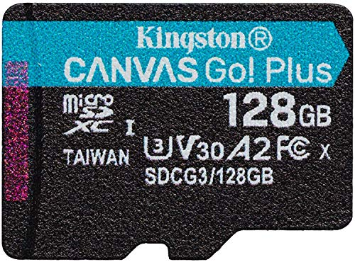 Kingston GO! Plus Works for Nokia N96 128GB MicroSDXC Canvas Card Verified by SanFlash. (170MBs Works with Kingston)