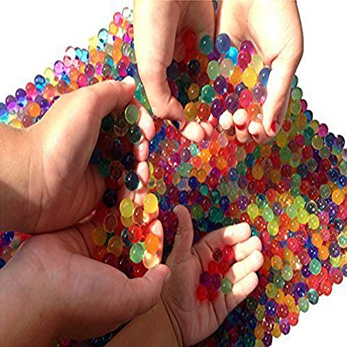 Water Beads, 2 oz pack (Almost 4,000 !!) Sooper Beads Crystal Soil Water Bead Gel [Rainbow Mix] For Kids Tactile Sensory Experience, Wedding Centerpiece Vase Filler, Plant decoration, Orbeez refill (Floral Beads)