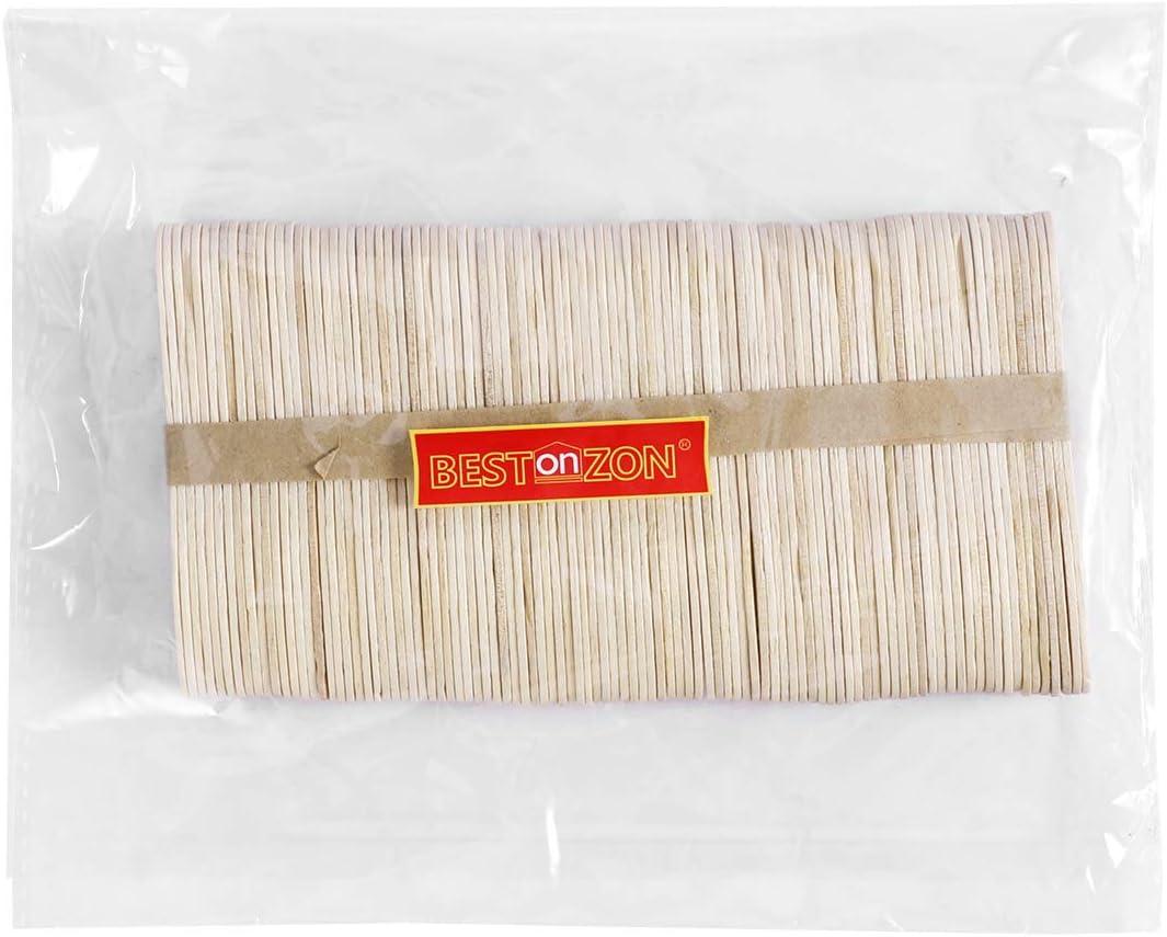 BESTonZON 100pcs h/ölzerne Eisl/öffel Einweg Holz Schnupper L/öffel EIS am Stiel Paddel L/öffel