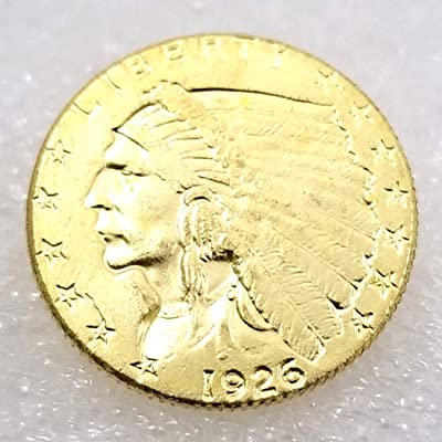 DengRen 1926 Antique Liberty Indian 2.5-Dollars Replica Coin- US Old Coin - Commemorative American Morgan Dollars Old Coins -Discover History of US Coins Satisfactory Service: Kitchen & Dining