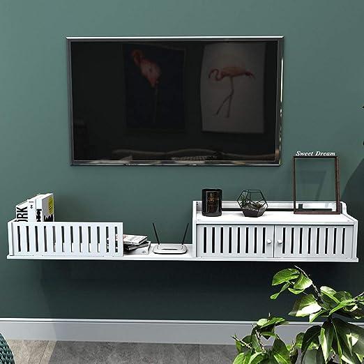 XKCJTCF Estante de TV montado en la Pared Dormitorio Sala de Estar ...