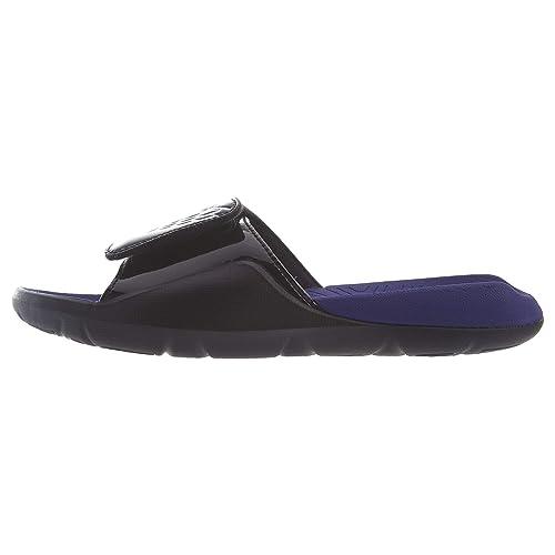 Jordan Mens Hydro 7 Black White Dark Concord Size 7 1f1243027a0