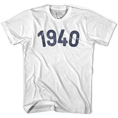 Amazon com: 1940 Year Celebration Adult Cotton T-shirt: Clothing