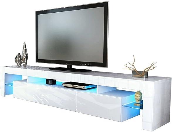 Festnight Mobile Porta TV Moderno in Legno Bianco e Marrone,Mobiletto TV,Mobile TV Bianco,Porta TV Moderno,Mobile TV Moderno 90x30x40 cm