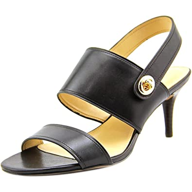 Coach Women s Marla Turnlock Dress Sandal Black Leather Size ...
