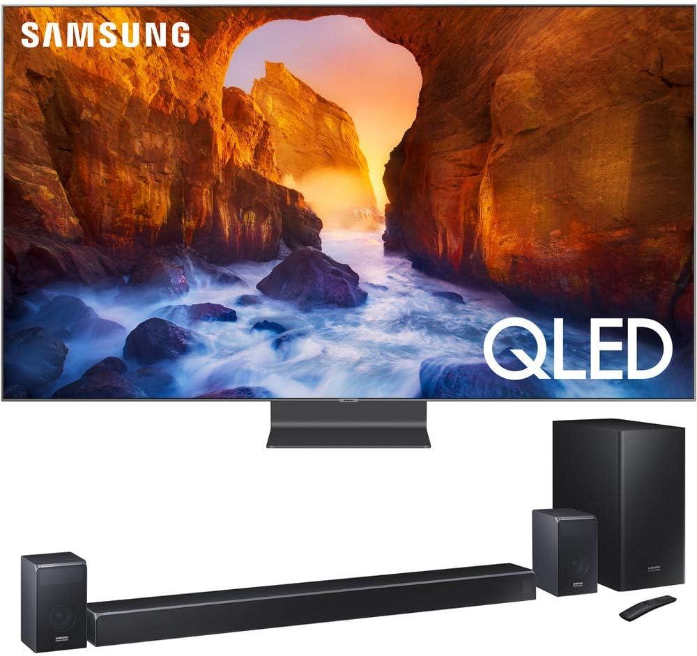 SAMSUNG QN65Q90RA Q90 QLED Smart 4K UHD TV (2019) con Sistema de Barra de Sonido HWQ90R 510W 7.1.4 Canales: Amazon.es: Electrónica