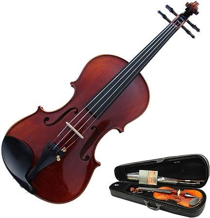 Chengzuoqing Violin Spruce Wood Performance Violín acústico con Estuche rígido Acabado Brillante Sólido Natural Juego de violines de tamaño Completo Hecho a Mano con Arco Resina para Estudiantes Pr: Amazon.es: Hogar