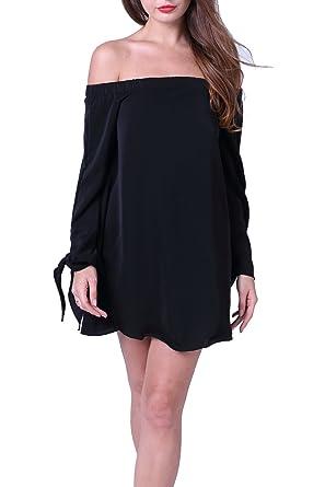 1dff1afafe6ab Women s Sexy Summer Chiffon One-Shoulder Loose Long Top Tunic Beach Mini  Dress Plus Size