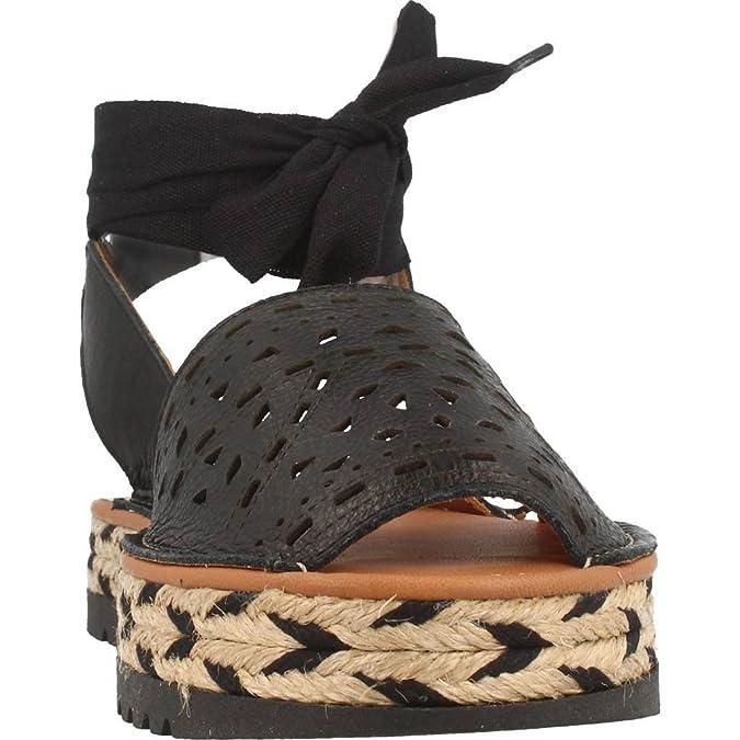 Alpargatas para Mujer, Color Negro, Marca MENORQUINAS POPA, Modelo Alpargatas para Mujer MENORQUINAS POPA Lagoon Negro: Amazon.es: Zapatos y complementos
