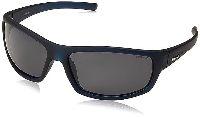 071a2dbaccb28 Polaroid P8411S - Gafas de sol rectangulares para hombre, 63 mm, azul   Amazon.es  Ropa y accesorios