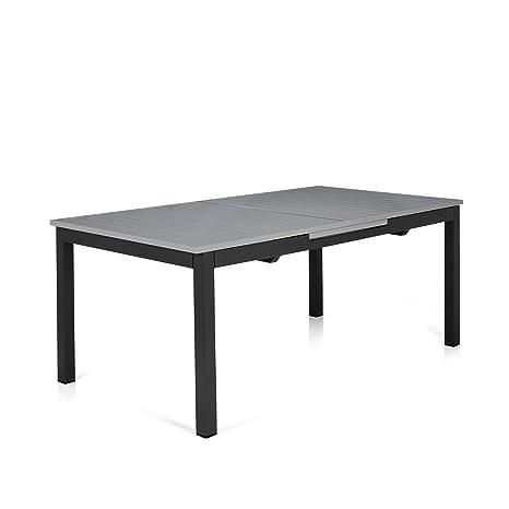 Alinéa Felton Table de Jardin à allonges en Aluminium Gris ...