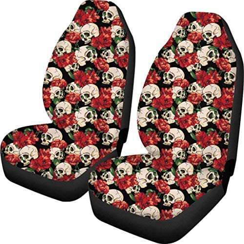 chaqlin Cool Giraffe Front Car Seat Cover Protect Dust Pet Cushion Auto Accessories Set of 2 Pack Animal Interior Elastic Decor Fit Vehicle SUV Van