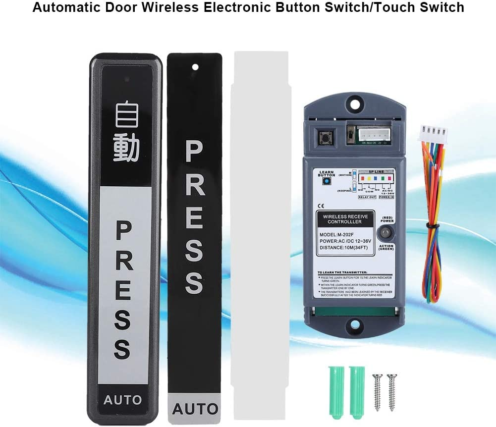 Fence Home Electronic Button Switch//Touch Switch Automatic Gate Door Lock Bolt for Gym 1 drag 1 School Wireless Automatic Gate