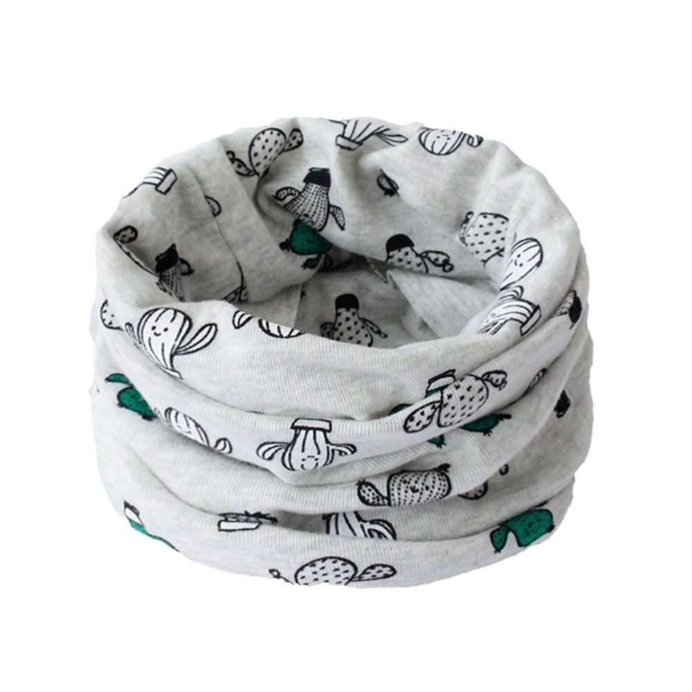 Cosanter Bufandas Sombrero Doble Uso Bufanda para Niño Niña bebé Pañuelo de cuello de Algodón para otoño e invierno 40 x 20 cm