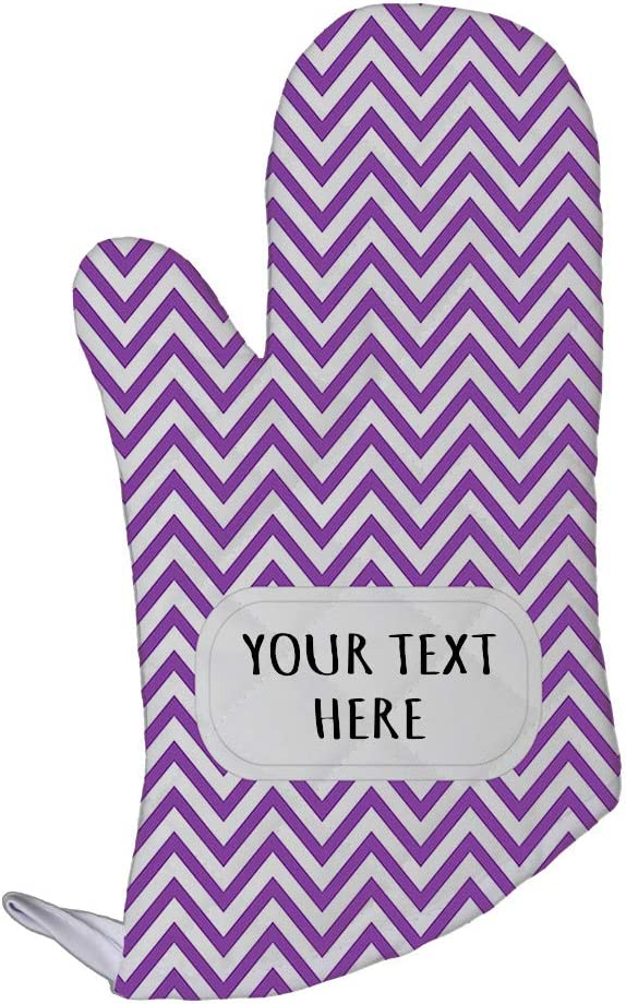 Style In Print Polyester Oven Mitt Custom Chevron 16 Pattern Purple White Adults Kitchen Mittens