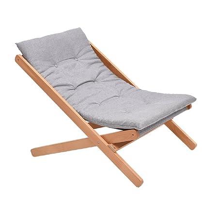 SjYsXm-Recliners chair Cómoda Silla Relax de Madera Gris ...