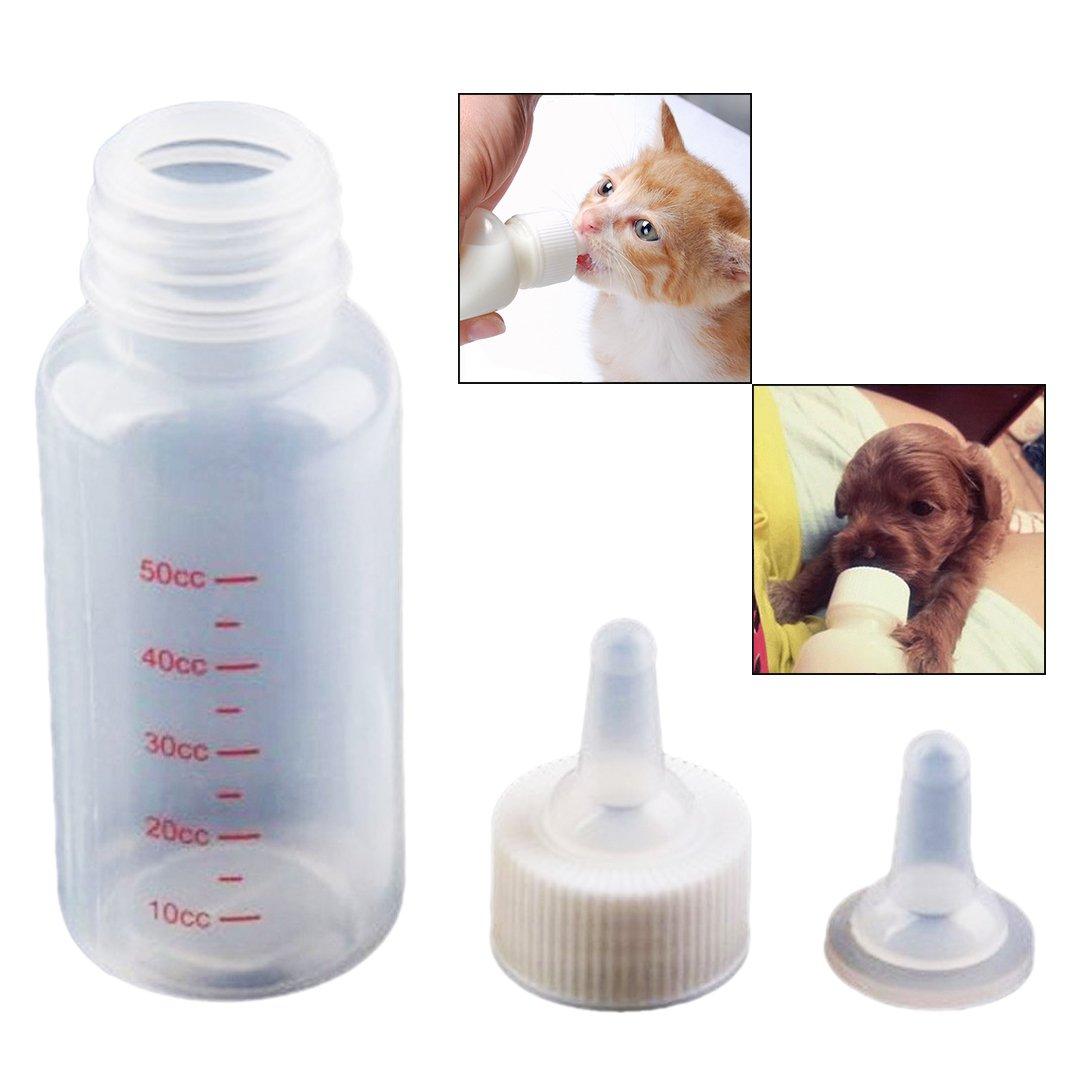 OFKPO 50 ml recién nacido Mascota Pequeño leche Feeder, Adecuado para pequeños cachorros, gatitos, conejos