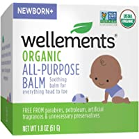 Wellements Organic All Purpose Balm, 1.8 Fl Oz, Soothing Head to Toe Balm for Infants and Toddlers, Free from Dyes…