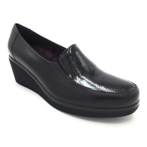 e5c40b4608169 Pitillos 5231 mocasín cuña Negro con Charol  Amazon.es  Zapatos y  complementos