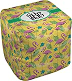 RNK Shops Pink Flamingo Cube Pouf Ottoman - 13'' (Personalized)