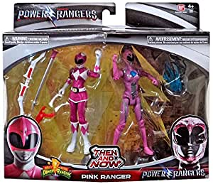 Saban's Power Rangers Movie Then and Now Pink Ranger Action Figure Set 5 Inches