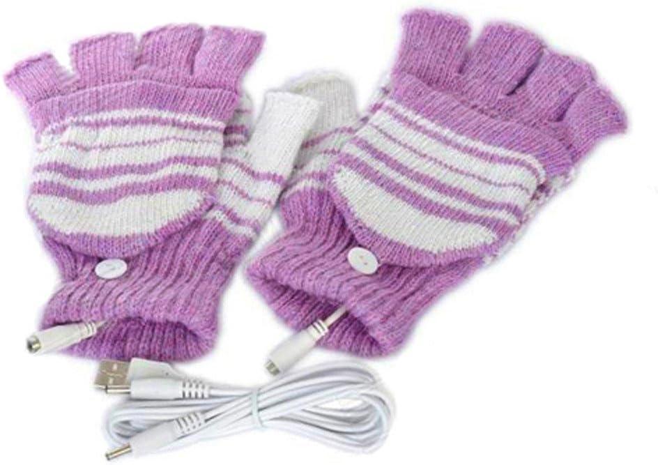 NINGSANJIN Unisex-Damen /& Herren-USB-Heizhandschuhe Winterhandschuhe mit warmen Handschuhen nignsanjin Volle und halb beheizte Fingerlose Heizung Stricken H/ände w/ärmer waschbar Design