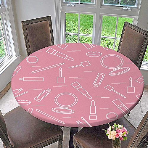 Chateau Easy-Care Cloth Tablecloth Lip Make up Tools Vector of Lipsticks Mirror Lip for Home, Party, Wedding 40