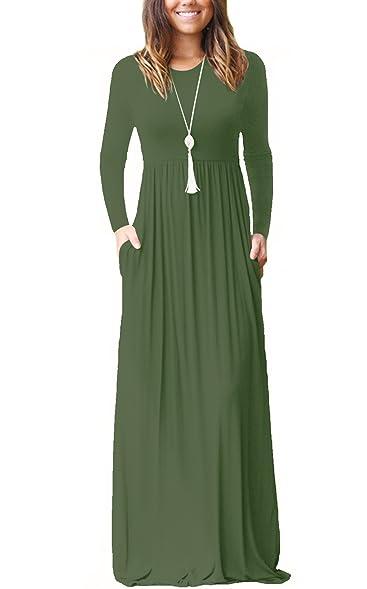 Long sleeves maxi dresses