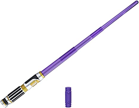Amazon Com Star Wars Revenge Of The Sith Mace Windu Electronic Lightsaber Toys Games