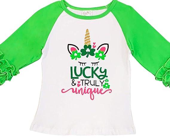 5c2f33b4 Amazon.com: Little Girls Tshirt Saint Patrick's Day School Holiday Party Top  T-Shirt Tee 2-8: Clothing