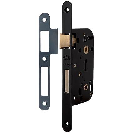 JPM Multibat standard - Cerradura embutida de apertura a la derecha con contrachapa, distancia entre