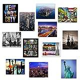 12 Various Collectible New York City Landmark Photos Decorative NY Pictures NYC Souvenir Wall Poster Prints - 8
