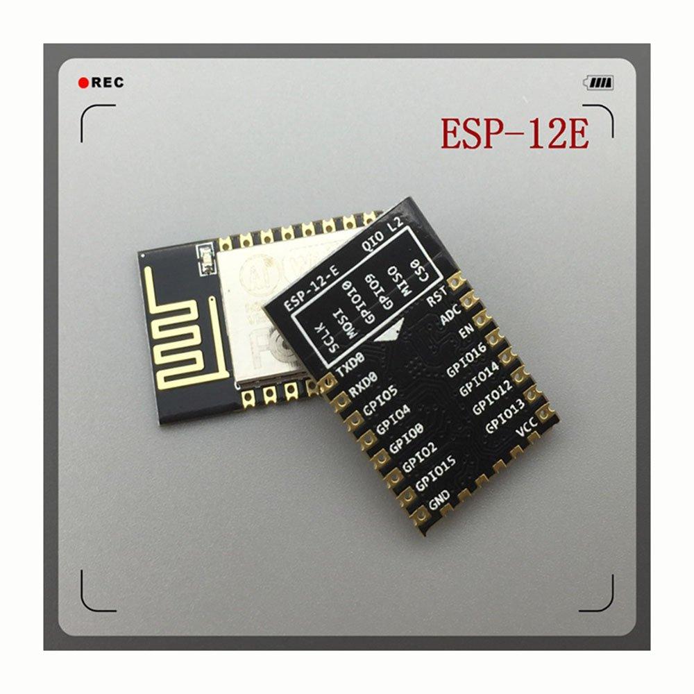 WKELECTRONDE-5PCS Nueva Versión ESP-12E (reemplace ESP-12) ESP8266 Módulo inalámbrico Puerto WiFi de Serie Remoto: Amazon.es: Electrónica