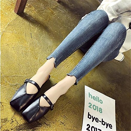 Mule Flat On Slip Mule Business Loafer Women Slide Black Work Casual Slipper Dressy 54Zwwq