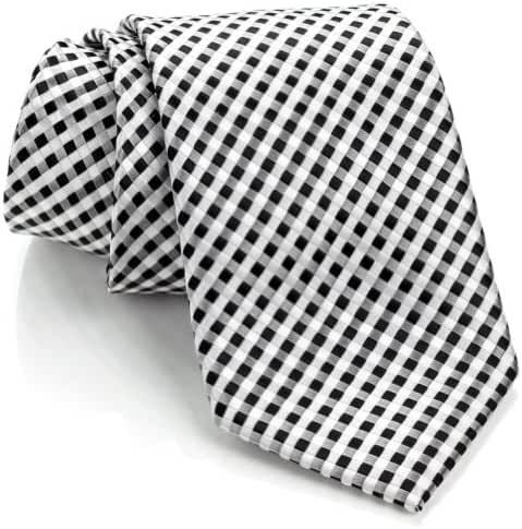 Scott Allan Mens Checkerboard Necktie