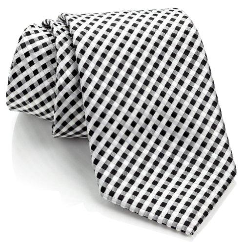 men ties black and white - 5