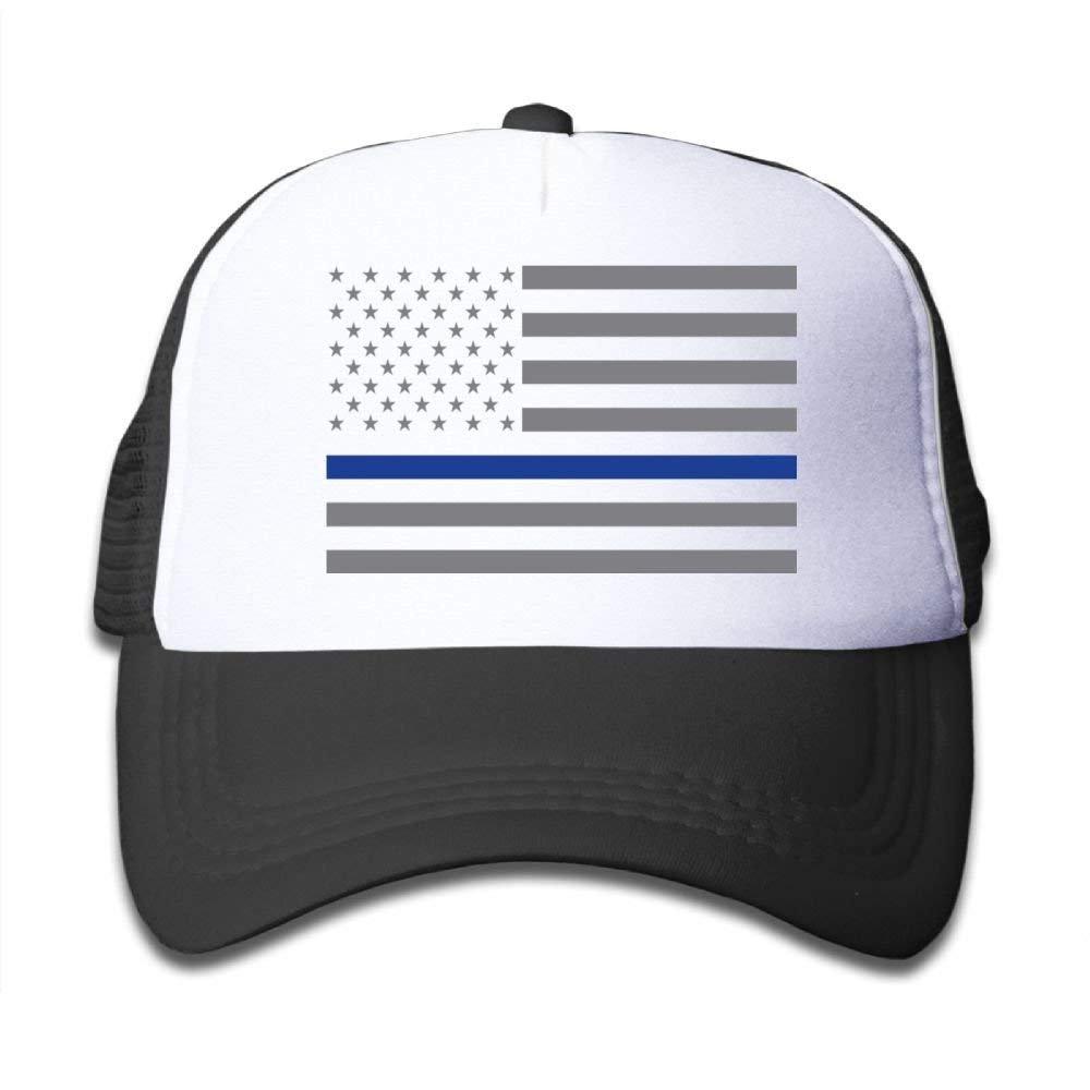 Nvjui Jufopl U.S. Flag Young Children`s Net Cap Boys and Girls Baseball Truck Driver`s Cap Black