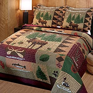 Greenland Home Moose Lodge Quilt Set from Greenland Home