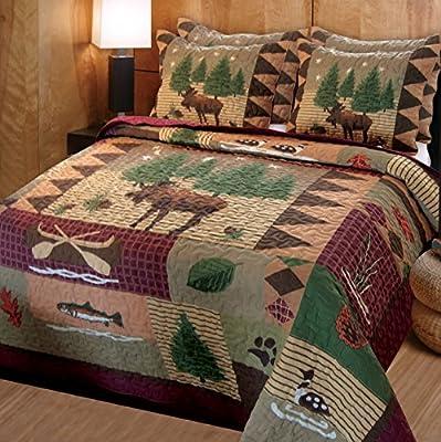 Greenland Home Moose Lodge Quilt Set