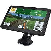 Sat Nav (7 inch), met 2021 UK Ierland Europa Kaarten (Gratis), GPS-navigatie voor Auto Vrachtwagen Vrachtwagen HGV…