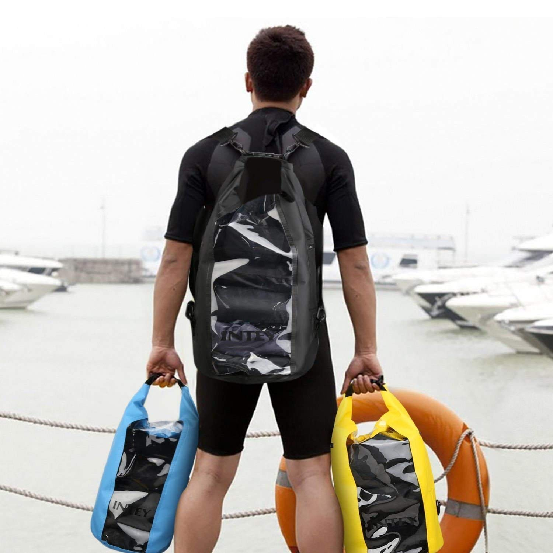 Kayak INTEY 20L Bolsa Impermeable de Primera Calidad Bolsa Seca de Tel/éfono con Correa de Hombro Ajustable para Camping Pesca