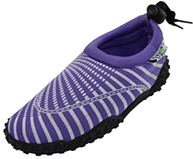Womens Water Shoes Aqua Socks Pool BeachYogaDance and Exercise 1177 Purple 9
