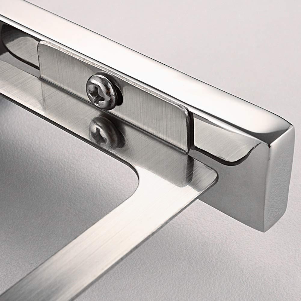 Rrunzfon Aseo escobillero Sistema de Cepillo 1Ponga de Montaje en Pared de Acero Inoxidable con WC Cepillo de Cristal Taza de Estilo Moderno Accesorios de ba/ño