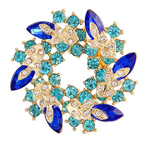 Valdler Women 's Brooch Pin With Fashion Jewelry Fancy Vintage Rhinestone Bling Crystal Bauhinia - Brooch Rhinestone Jewelry