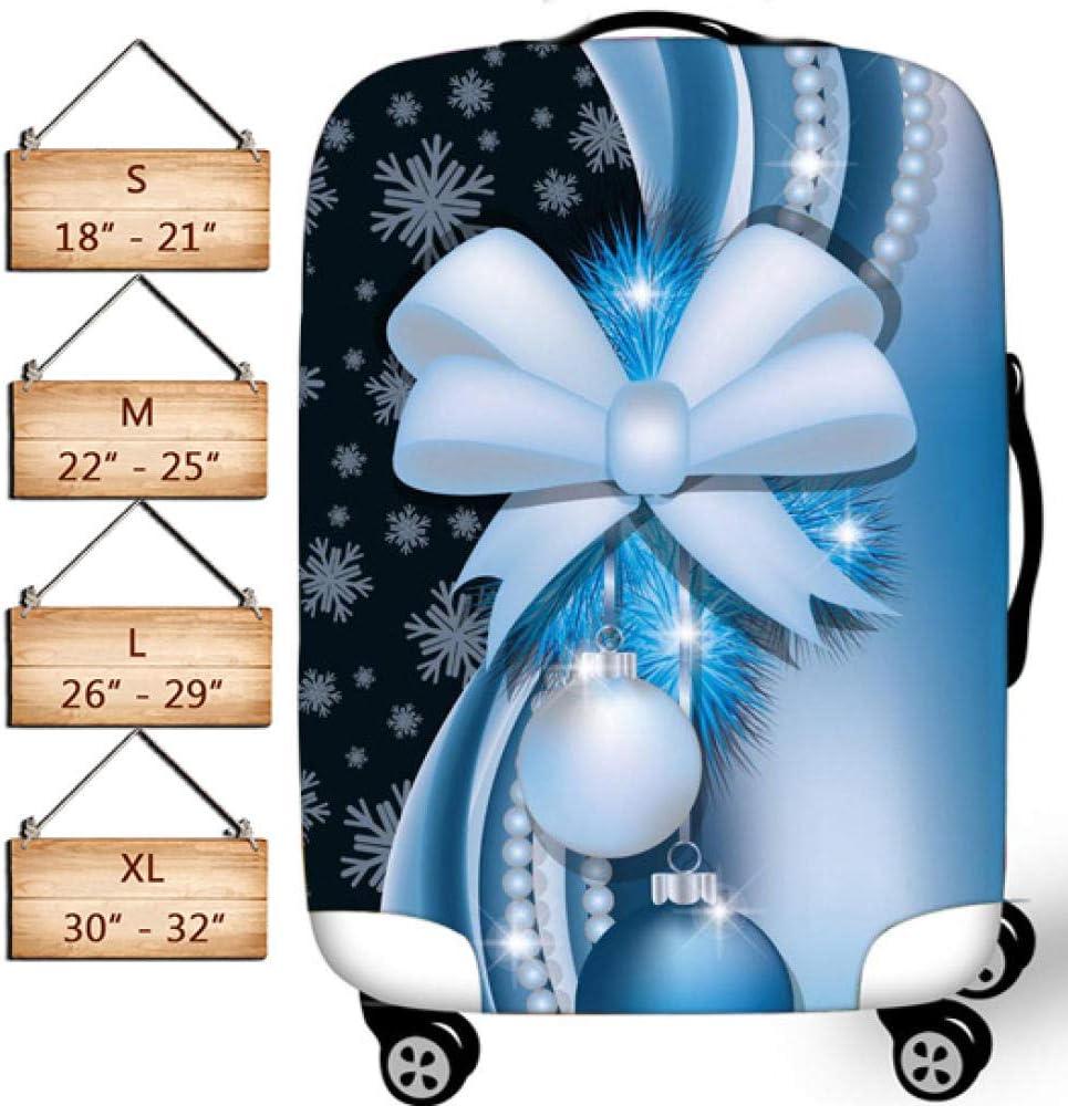 Cubierta Colorida del Equipaje del Copo de Nieve por MukMok Se Adapta Al Protector de Viaje Spandex de Maleta de 18-32 Pulgadas-Arco s (18