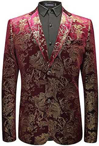 12df6bd9f03 Fashionmy Men Blazer Printing Prom Dresses Gold Sequin Suits Jackets Top  Party Wedding Casual