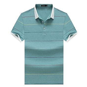 De los Hombres Verano Manga Corta Camisa Polo Top de Camiseta de ...