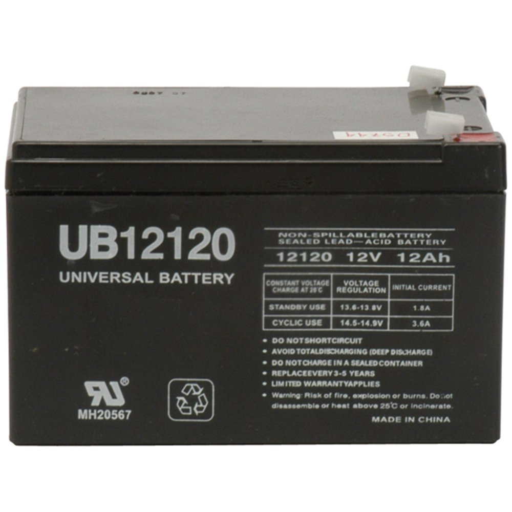 Universal Power Group 12V F2 12AH Battery Spitfire Scout 3 DLX Compact Travel Scooter