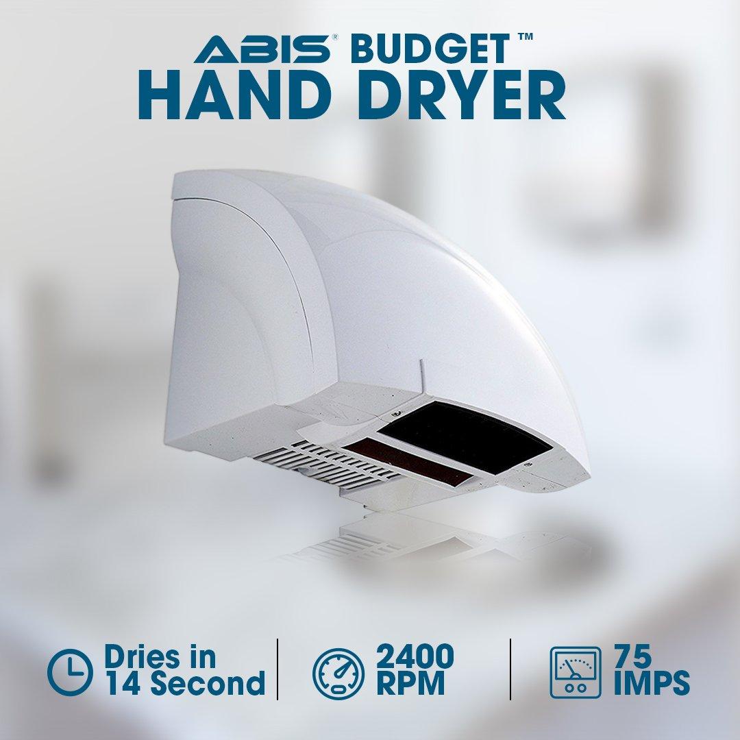 ABIS Asciugamani Elettrico - Asciugamani Elettrico Efficiente - Ottimo Design e Prefetto per Aree a Basso Traffico Asciugamani Low Cost